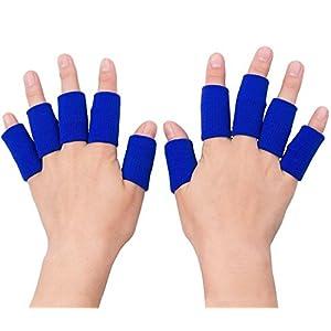 Sport-Fingerbandage,Elastische Fingerhülle Schutz Fingerband zum Schutz Bei Arthritis und Beim Sport