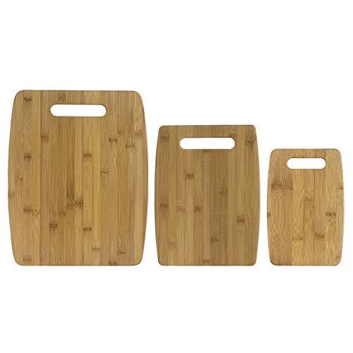 Unbekannt Totally Bamboo BA207920 3er-Set Schneidbretter (23, 30 und 38 cm), Sets (Bamboo-schneidbrett Totally)