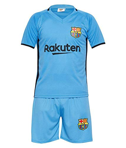 Sportyway Kids Messi 10 FC Barcelona Football Jersey Set (Sky Blue) (Polyster, 6-7years)