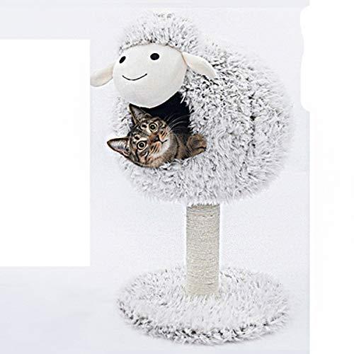 Vacoomcom Pet Products Cat Climbing Gestell Brown Casita Möbel Katze Nest Kratzbaum Lamm Katze-Bett-Katze-Regal Villa Kleines Katzenspielzeug (Size : A)