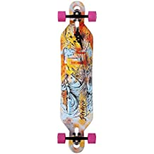 Monopatín longboard skate skateboard RIVIERA.Great wave 41.5 Sakari trucks, Glutier wheels