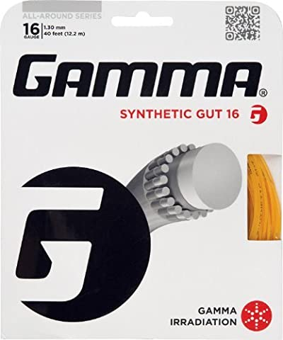 Gamma Synthetic Gut 16G Tennis String, Gold by Gamma