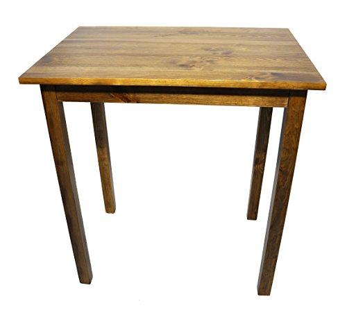 Bartisch Kiefer Massiv Holz Natur Stehtisch Küchentisch Esstisch 100x60 cm H-110 cm (Eiche)