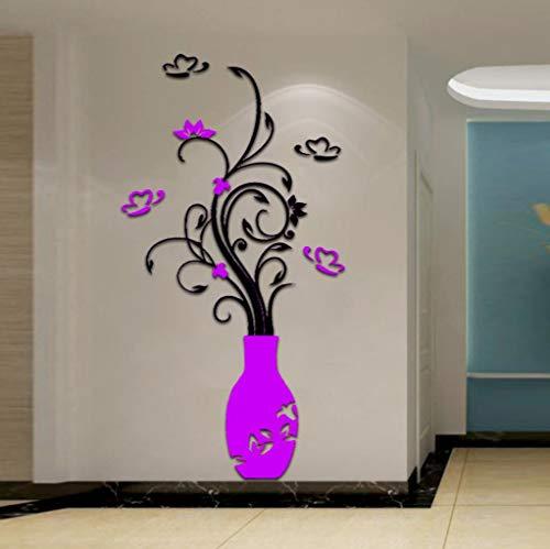 serliy 3D Acrylkristall Leuchtend wandaufkleber wandtattoo wandsticker Baum Selbstklebende Fliese Aufkleber Küche Badezimmer Persönlichkeit kinderzimmer Dekorative wandsprüche Wandgemälde -