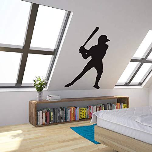 Tianpengyuanshuai Baseball Spieler Sport Aufkleber Fitness Junge Schlafzimmer Wohnzimmer Wohnkultur Vinyl Abnehmbare Wandkunst Aufkleber37x57cm -
