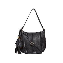 Diana Korr Black P. U. Handbag (DK120HBLK)