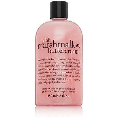 Philosophy Pink Marshmallow Buttercream 16fl oz 3-in-1 Shampoo, Shower Gel, Bubble Bath by Philosophy