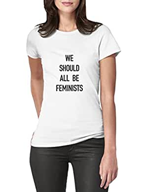 Camiseta WE SHOULD ALL BE FEMINIST. Colores blanca, negra, gris, verde, roja