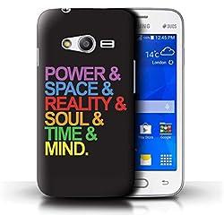 W3Tech Coque/Etui pour Samsung Galaxy Trend 2 Lite/G318 / Six Pierres Design/Film Super-Héros Citations Art Collection