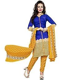 Dealsure Women's Cotton Dress Material(DS-D5001-01_multicoloured_Free Size)