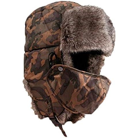 Malloom Unisex Sombrero de invierno Sombrero de felpa Sombrero a prueba de viento Sombrero caliente Gorro antipolvo Sombrero de Esquí Ciclismo