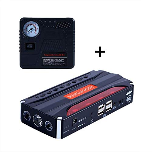 Preisvergleich Produktbild XHZNDZ Tragbarer Auto-Sprungs-Starter 600A Peak (bis zu 4L Gas- oder 2L-Dieselmotor) 12V Auto Battery Booster Portable Power Pack mit und LED-Taschenlampe für PKW-SUV-LKW