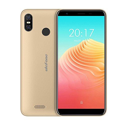 Ulefone S9 Pro - polegadas HD 5,5 + (18: 9 tela cheia) Smartphone Android 8.1 4G, super slim, MTK6739 Quad Core 2 GB + 16 GB, dual SIM, o triplo da câmera (5 MP + 13 MP + 5 MP), o reconhecimento facial, bateria 3300 mAh - Gold
