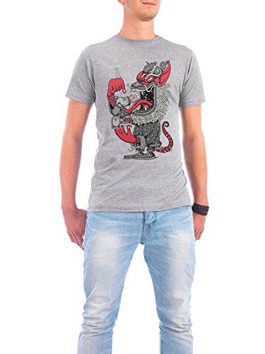 """Design T-Shirt Männer Continental Cotton """"Dragon"""" - stylisches Shirt Comic Essen & Trinken Fiktion von Copenhagenposter Grau"""