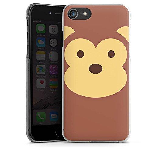 Apple iPhone X Silikon Hülle Case Schutzhülle Affe Monkey Comic Style Hard Case transparent