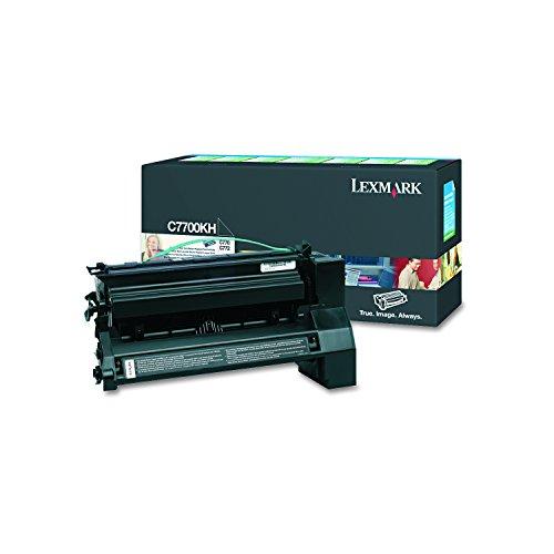 Lexmark C7700KH C770, C772 Tonerkartusche hohe Kapazität 10.000 Seiten Ruckgabe, schwarz