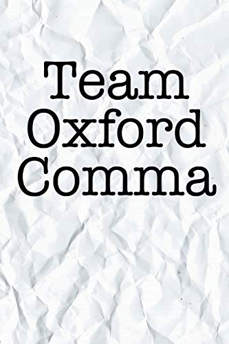 82e21803269698 Team Oxford Comma: Blank College Ruled Compact Notebook for English  Teachers Students and People Who