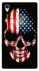 Crazy Beta Usa Map Skull Best Design Printed Back Cover For Sony Xperia Z5