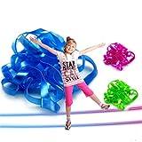 FADACAI 2 Stücke Bunte Farbe Elastische Springseil Gummiband Linie Outdoor Spiele Spielzeug Geschenk Farbe Zufällig