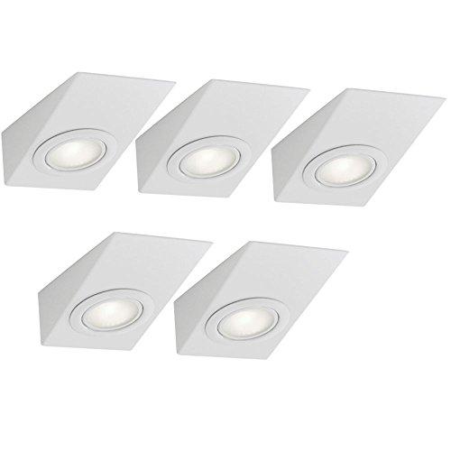 5er Set Design Unterbau Leuchte Küchen Schrank Akzent Lampe Beleuchtung Eglo 85507