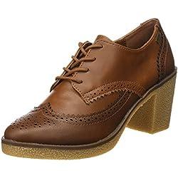 MTNG Collection Mtng, Zapatos de Tacón con Punta Cerrada Mujer, Marrón (Crax Moka / Cuero), 37 EU