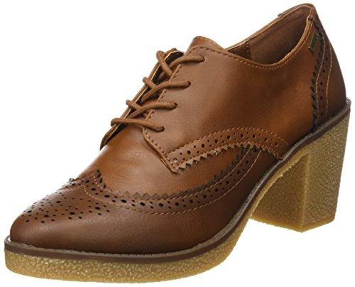 MTNG, Zapatos de tacón con Punta Cerrada para Mujer, Marrón CRAX Moka/Cuero, 38 EU