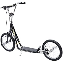 Patinete Scooter 2 Ruedas16 pulgadas 4 PEGS Estribos Freno Caballete Color Negro