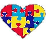 Wristbands Online Pin de concienciación con el Autismo, diseño de corazón