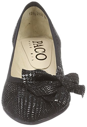 Paco Gil P2930 Damen Pumps Silber (Pewter/Black)