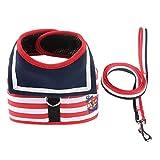Camouflage Mesh Pet Leash Vest Typ Breathable Buffer Seil kleine und mittlere Hunde (Farbe : Red, größe : L)