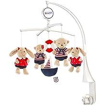 Fehn Musik Mobile - Spieluhr-Mobile für Babys von 0-5 Monaten / Zum Aufziehen und Montieren am Kinderbett