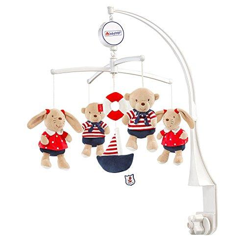 Beliebte Leuchten-kollektion (Fehn 078190 Musik-Mobile Ocean Club / Spieluhr-Mobile mit Teddys im Matrosenlook zum Lauschen & Staunen / Zum Befestigen am Bett für Babys von 0-5 Monaten / Höhe: 65 cm, ø 40 cm)