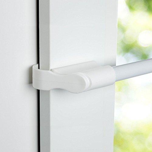 Easy-Shadow Klemmstange 10/12 mm Metall - Länge ausziehbar 75 - 125 cm in weiß - Vitrage...