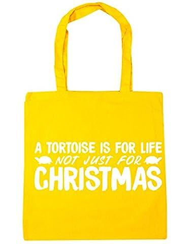 hippowarehouse une tortue est pour la vie, pas seulement pour Noël sac shopping Gym Sac de plage 42cm x38cm, 10litres - jaune - Taille unique