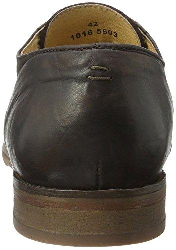 H.D. Hudson Mfg Co. Rogers Suede Brown, Chaussures à Lacets Homme Marron