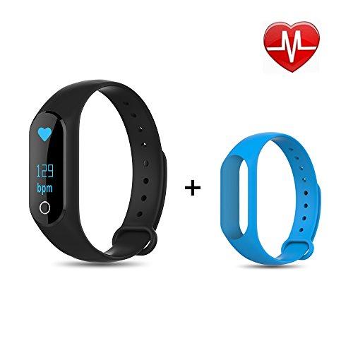 Xerfira CoBand K4 Fitness Armband, Smartwatch, Bluetooth Herzfrequenz Fitness Tracker, Sport Armband, Smart Bracelet, Fitness Tracker mit herzfrequenz, mit Pulsmesser, Schrittzähler, Aktivitätstracke