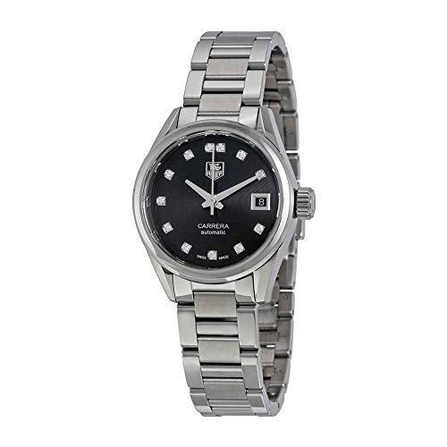 Tag Heuer Damen Carrera Kaliber 9Automatik Uhr Diamant Zifferblatt Diamant Lünette 28mm war2413. ba0776
