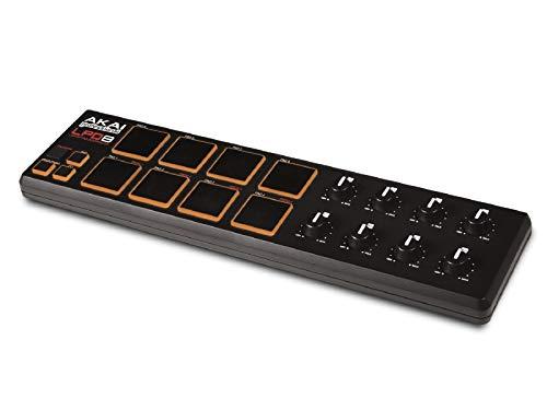 AKAI Professional LPD8   Contrôleur USB/MIDI Ultra Compact avec 8 Pad Rétro-Eclairés Sensibles à...