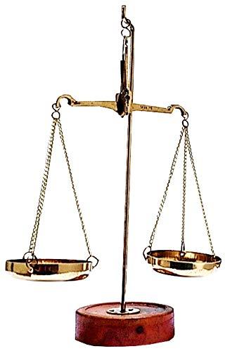 purpledip latón peso escala equilibrio tarazu pesos medida Showpiece de ley/justicse para todos '(11152)