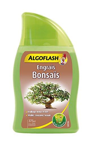 ALGOFLASH Engrais Bonsaï, Jusqu'à 50 L, Bouchon doseur inclus, 375 ml, ALIBONZ375