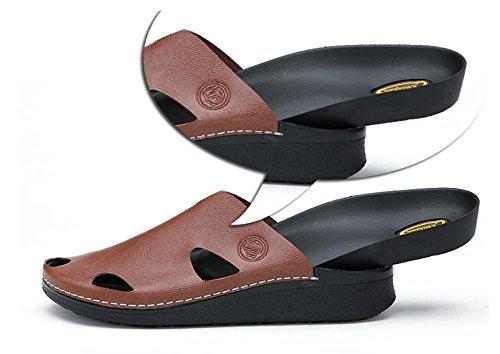 2017 nuovi sandali estivi pantofole da uomo ciabatte marea quotidiana Brown