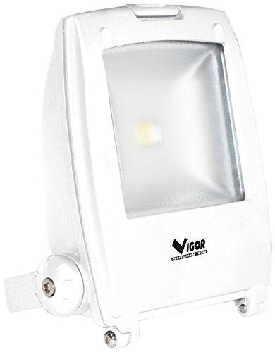 Vigor 34784-88 Faro a LED Modello Star, Luce Bianca, 10 W, Bianco