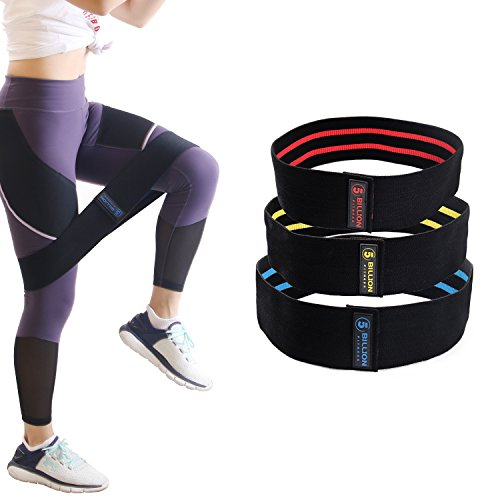 5BILLION Resistance Hip Bands Trainingsband Resistenzband für beine Hüften Rutschfestes Booty Thigh Glutes yoga fitness ( Set of 3 ) -