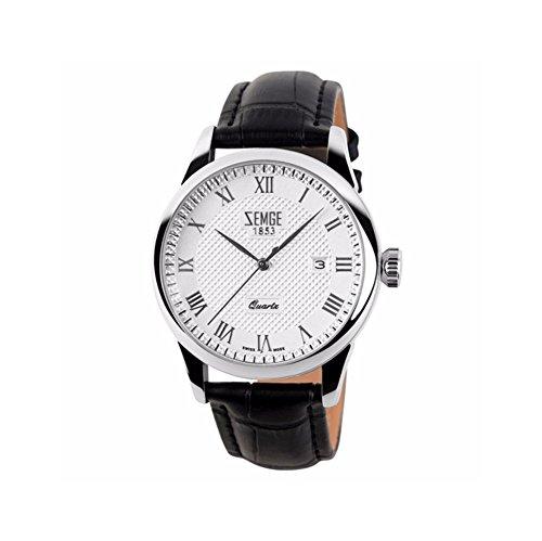 ZEMGE 36mm Unisex de la mujer hombre reloj de cuarzo analógico FECHA resistente al agua reloj de pulsera unisex Business Casual simple diseño clásico Boss de ZC0201W