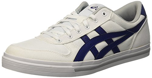 Asics Aaron, Zapatillas Unisex Adulto, Blanco (White/Blue Print), 43.5