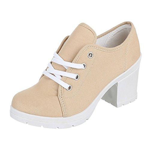 Chaussures femme, 0015–71A, Chaussures basses de loisirs chaussures Beige - Beige
