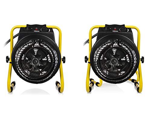 Tristar obras Set/Radiador Calefactor eléctrico 3000W con función ventilador, IPX4