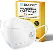 Boldfit N95 mask for face (Pack of 5) Anti Pollution, protective. Third Party Tested by manufacturer at SGS &a