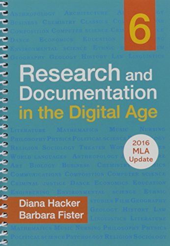 Research and Documentation in the Digital Age with 2016 MLA Update by Diana Hacker (2016-07-05)