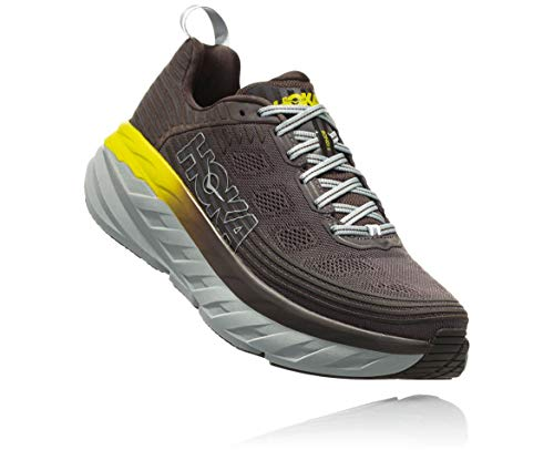 Hoka Bondi 6,男士跑步鞋,灰色(BlackOlive / Pavement),42 2 / 3 EU